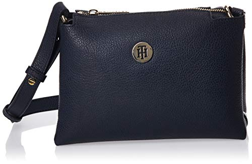 Tommy Hilfiger Damen Th Core Crossover Umhängetasche, Mehrfarbig (Sky Captain), 9x0.1x22 Centimeters