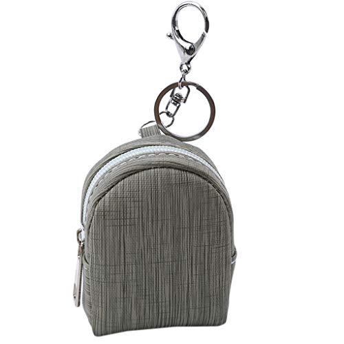 SEVENHOPE Mädchen Mini Rucksack Münztüte Brieftasche Handtasche Geldbörse Schlüsselanhänger (Grün)