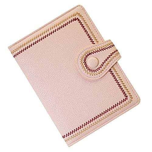 [スーツケースカンパニ?]GPT パスポートケース 刺繍 かわいい おしゃれ PU レザー カード入れ 貴重品 収納 整理 海外旅行 トラベル ピンク