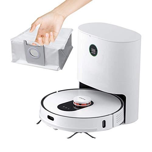 ROIDMI EVE Plus Roboterstaubsauger mit Wischfunktion, Laser-Navigation Saugroboter mit Automatische Absaugstation, 250 Minuten Akkulaufzeit APP/Alexa/Google Assistant Ideal für Tierhaare