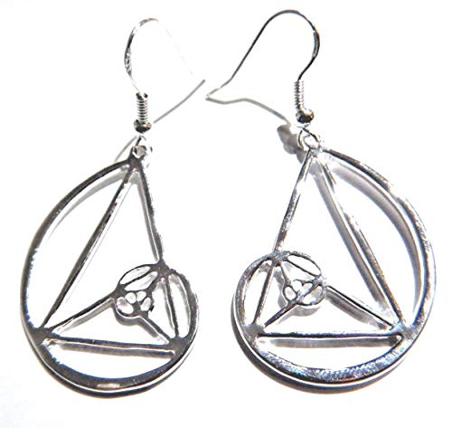 Fibonacci Spiral Earrings silvertone pendants on French Hooks Sacred Geometry match science Nautilus coil