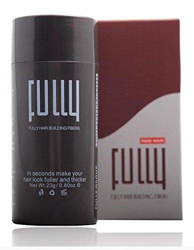 FULLY Hair Haarverdichter | Haarfasern für mehr Fülle/Volumen, 1er Pack (1 x 23g) (Schwarz (Black))
