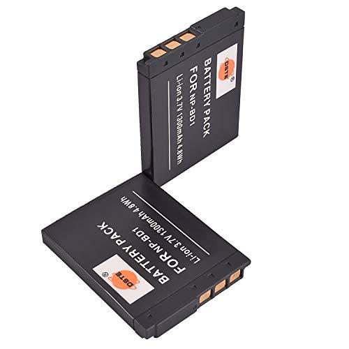 DSTE - Batería de repuesto para Sony Cyber-Shot DSC-G3, DSC-T2, DSC-T70, DSC-T75, DSC-T77, DSC-T90, DSC-T200, DSC-T300, DSC-T700, DSC-T900 (2 unidades)