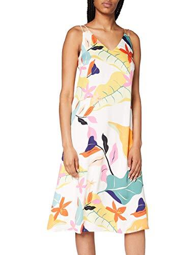 ESPRIT Collection Damen Esprit Kleid, Weiß (113), 42