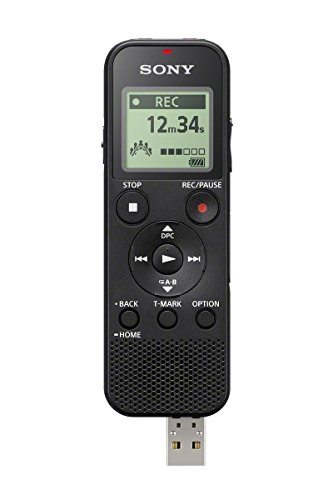 Sony ICD-PX370 Mono Digital Voice Recorder with Built-In USB Voice Recorder,black