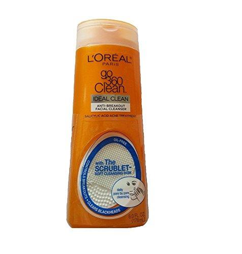L'Oreal Lotion nettoyante pour le visage Go 360 Clean - Nettoie les pores en profondeur pour prévenir les poussées d'acné - 175 ml