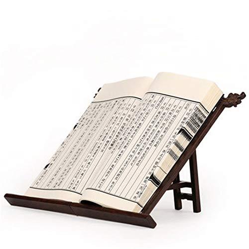 Cocina Atril Rojo de la vendimia vector de madera Estantería de libros Soporte SOPORTE Estantería Estantería de lectura real de madera de escritorio Artefacto Soporte de estante libro Herramientas de