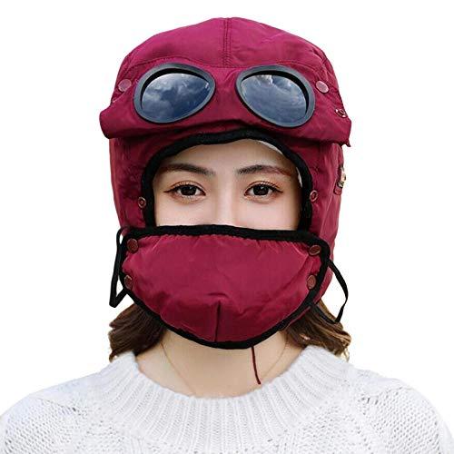 N-N Russischer Hut Verdickte Gehörschutzkappe Winddichte Mode Auf Ski Snowboard Motorrad Run Climb Chase Und Viele Weitere Rotweine Auftragen