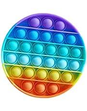 regnbågepop It Fidget Toy - Push Pop Bubble Fidget Sensory Toy - Silikon Pop Bubble Fidget Toy Stressavlastare, Hjälp Till Att Återställa Känslor Extrusion Bubble Fidget För Vuxna Och Barn
