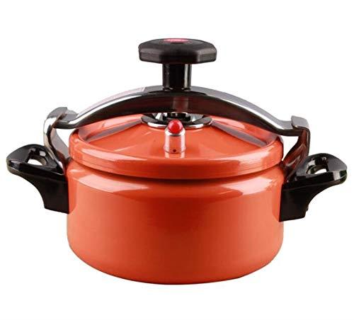 XGHW Mini Olla a presión Pequeña Olla a presión Cocina de arroz Cocina Lenta Vaporizador y Soporte Olla Olla a Gas Universal para Restaurante Familiar Cocina Cocina 2l, 3L (Color : Orange, Size : 2L)