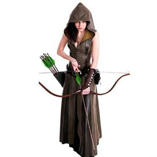 YyiHan Cosplay Disfraz, Medieval Ranger Femenina Traje de Robin Hood Uniforme Cosplay Cosplay tentación de Maquillaje de Halloween Etapa espectáculo de Disfraces Fiesta de Disfraces