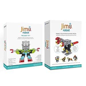 JIMU ROBOT Meebot 1.0 + Animal Add On Kit Bundle – Makes 5 STEM Robotic Characters