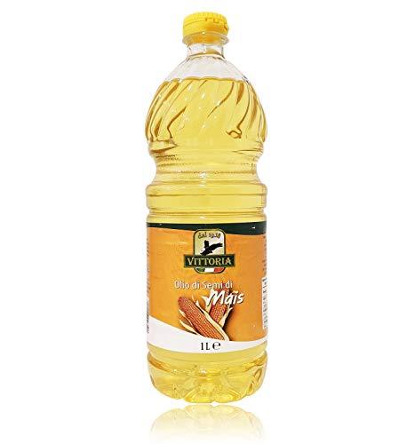 12pz - Olio di Semi di Mais 'Vittoria' - Bottiglia Pet da 1 Litro 1lt 1000ml - Cartone da 12 Pezzi - 12 Litri