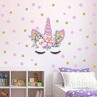 50cm X 35cm PVC Cartoon DIY Color Wall Stickers Pink Unicorn Home Decoration Vinyl Decals Wallpaper For Baby Kids Bedroom ...