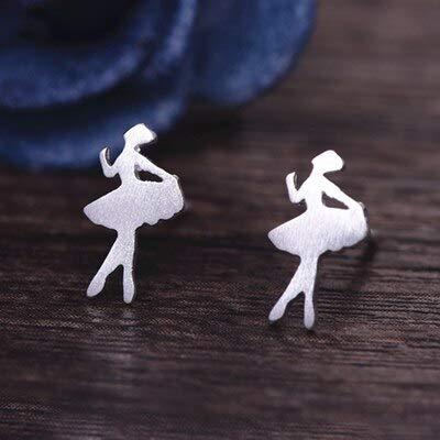 Burenqi Oorbel Womens Zilver Sieraden Mode Leuke Kleine Vogel Stud Oorbellen Gift Voor Meisjes Vriend Kids Lady