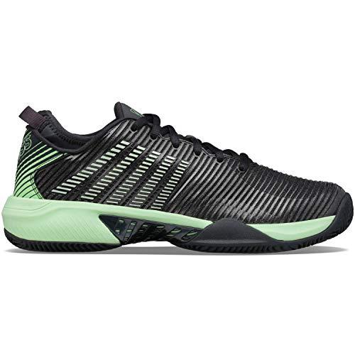 K-Swiss Hypercourt SUPREEHB, Zapatos de Tenis Hombre, Negro/Verde, 41 EU