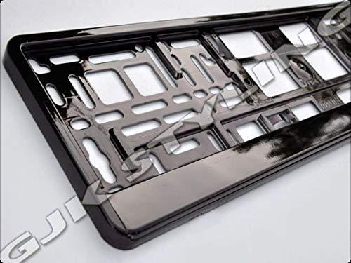 2 Kennzeichenhalter | SCHWARZ | Metallic | Hochglanz | KLAVIERLACK | 520 x 110 | DHL Schnellversand