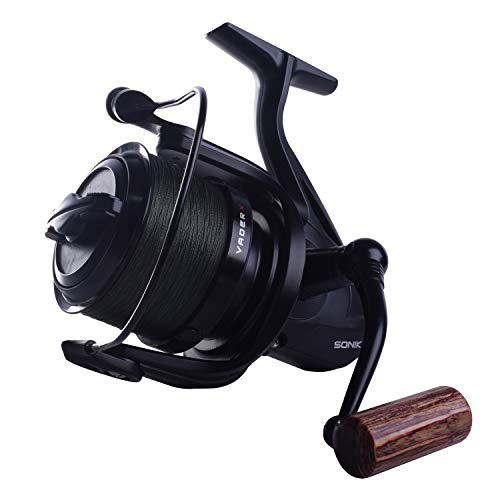Sonik VADERX RS 8000 - Carrete de pesca con 200 m de cuerda trenzada de 30 lb