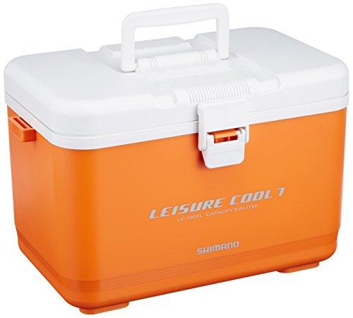 シマノ(SHIMANO) クーラーボックス 小型 5.8L レジャークール7LC-007L 釣り用 オレンジ