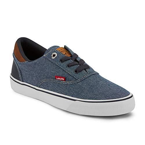 Levi's Mens Ethan Chm WX Classic Chambray Sneaker Shoe, Navy/Tan, 9.5 M