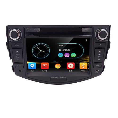 HIZPO 7 Inch in Dash HD Touch Screen Car CD DVD Player FM/AM Radio RDS Stereo GPS Navigation Map Card Toyota RAV4 2006-2012