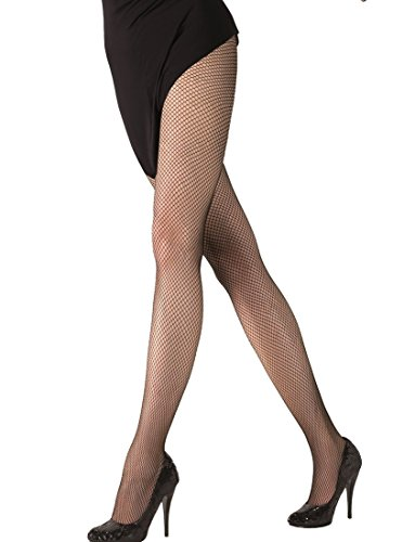 Annes styling Netzstrumpfhose Netzstrümpfe Diamant-Strumpfhose für Frauen Kreuzgeflecht Zaun Gr. TG-1/2, Shakira Nero