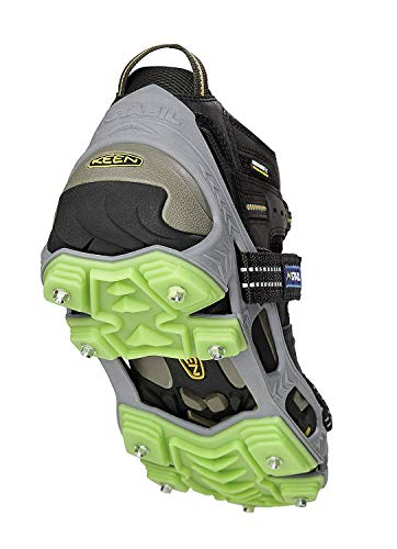 STABILicers Hike XP Traction Ice Cleat for Hiking in Snow and Ice 1 pair  Large 10513 Men Gray/Green