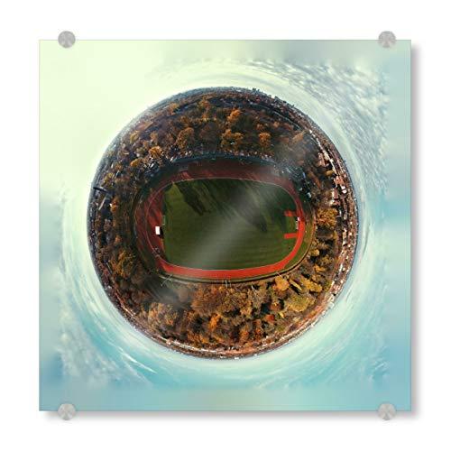 artboxONE Acrylglasbild 30x30 cm Städte Stadion Hammer Park in Hamburg - Bild Hamburg Deutschland drohne