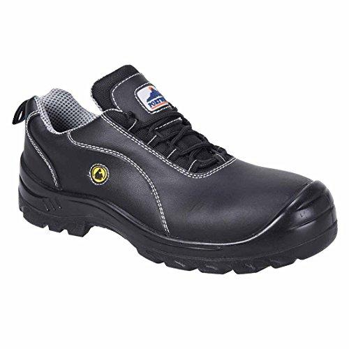 Portwest SUW-Compositelite ESD Leder Arbeit Sicherheit Schuh S1, EU 37 - UK 4, schwarz, 1