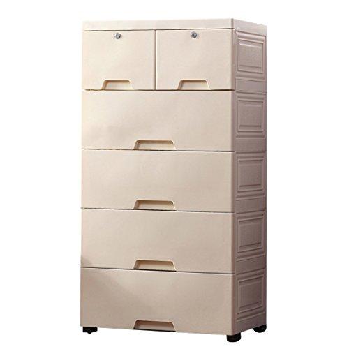 Nachttische Schublade Aufbewahrungsbox Wohnzimmer Extra große Kleiderschrank Kunststoff-Schrank Kinder Speicher Forcer (Color : D)