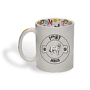 Ceramic Christmas Coffee Mug I Love Paw My Akbash Dog Funny Tea Cup 19