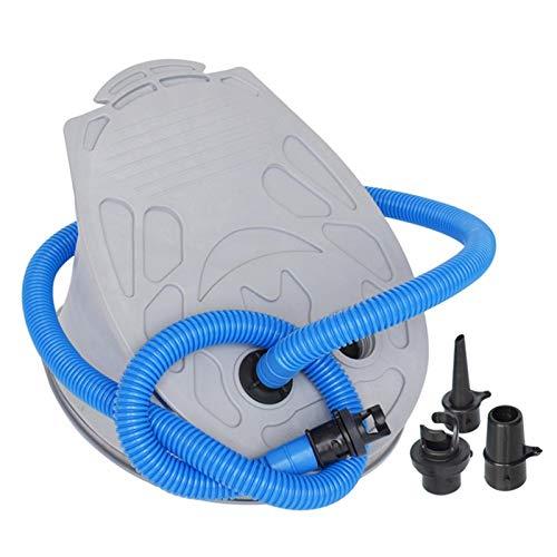 Bomba de aire manual de doble carrera, bomba de aire activada de pie, bomba de aire, fuelle plegable, bomba de pie, para botes inflables, kayak
