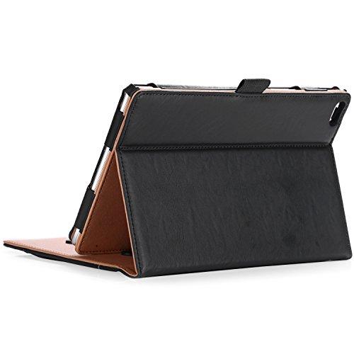 ProCase Funda Lenovo Tab 4 8 -Clásico Folio de Soporte Cubierta Inteligente Plegable para Lenovo Tab 4 8'Tablet 2017 Versión ZA2B0009US, con Múltiples ángulos de Vista –Negro