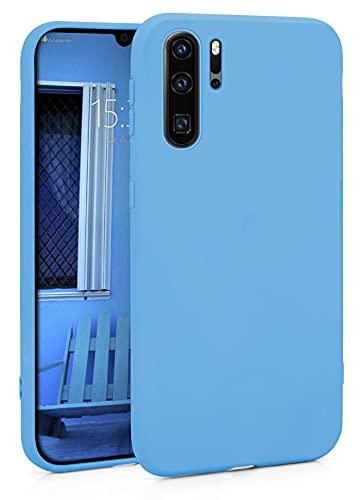MyGadget Funda Slim para Huawei P30 Pro en Silicona TPU - Resistente Carcasa Antichoque Flexible & Ultra Protectora - Friendly Pocket Case - Azul Claro