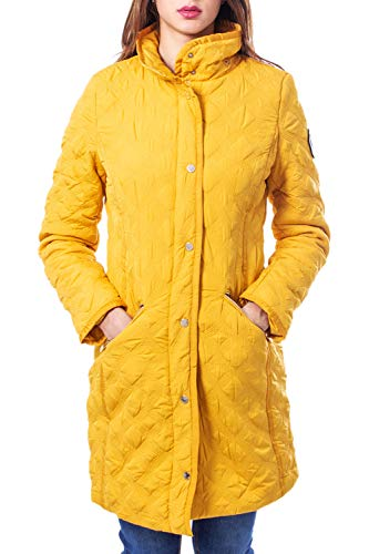 Desigual Lange Daunenjacke Damen Small Gelb