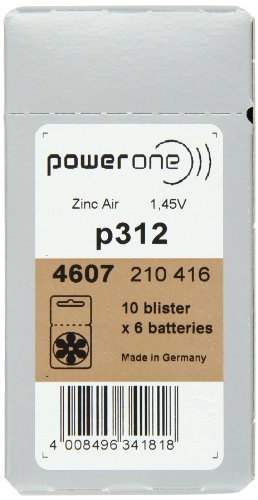 Powerone Hearing Aid Batteries, Size 312 (300 Total Batteries)