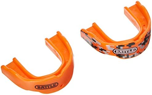 Battle 2 Color Mouthguard 2 Pack Orange Youth product image