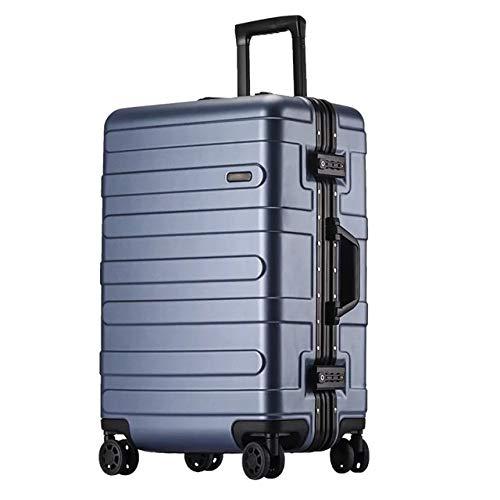 Mdsfe Maleta rígida con Marco de Aluminio de 20'24' 29'Pulgadas con Ruedas abs Spinner Cabina Trolley Equipaje para Viajar - Azul, 22'