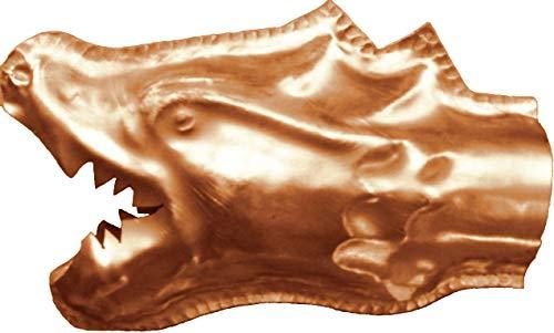 Wasserspeier Drachenkopf Kupfer in den Größen 30, 42 und 65 mm (65 mm)