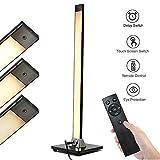 Henzin Stehlampe LED Dimmbar Fernbedienung,8W LED Stehleuchte für Wohnzimmer Schlafzimmer,5 Helligkeitsstufen,3000K Farbtemperaturen,Touch-Bedienung,Augenschutz LED Standleuchte -Schwarz