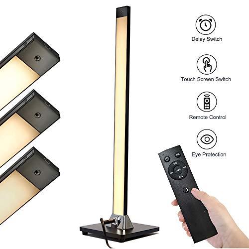 LED Stehlampe,HENZIN 8W Stehlampe LED Dimmbar Fernbedienung,hohe 30.000 Stunden Lebensdauer,5 Helligkeitsstufen,Touch-Bedienung,LED Stehleuchte für Wohnzimmer Schlafzimmer,Büro -Schwarz