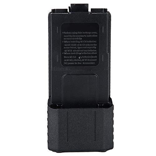 Yunseity Caja de batería de walkie Talkie, Caja de batería de walkie Talkie ABS extendida Caja de batería 6xAA, Caja de batería de Repuesto Grande de Alta Capacidad para Baofeng UV-5R UV-5RE UV-5RA