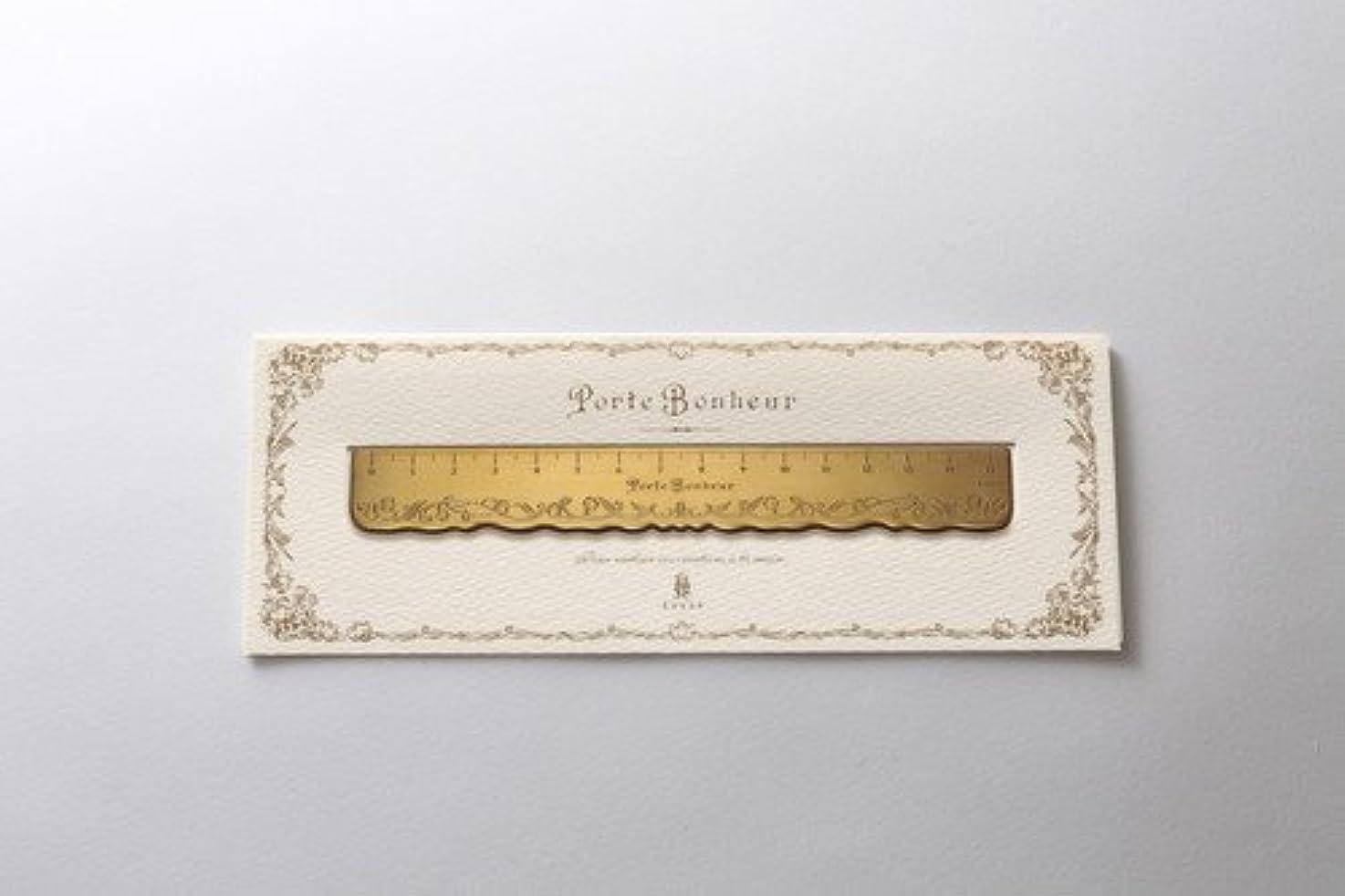 味方石鹸去るClover Porte Bonheur ポルトボヌール すずらん真鍮定規 15cm 79-597