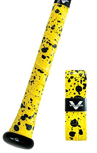 Vulcan Yellow Splatter Standard Bat Grip 1.75mm