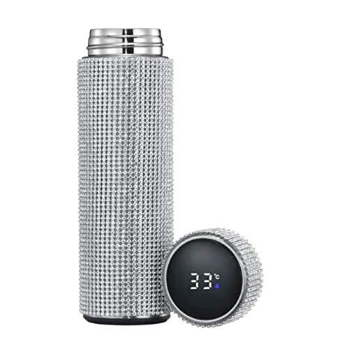 Bangong Botella de agua de acero inoxidable de 500 ml de diamante caliente botella de agua inteligente pantalla de temperatura frasco de vacío taza regalo para hombres mujeres