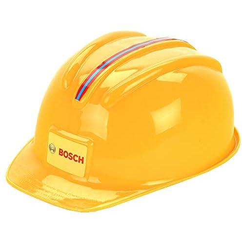 Theo Klein 8127 Casco da lavoro Bosch, Il casco giocattolo con look da artigiano, Misura regolabile, Dimensioni: 25.8 cm x 19.5 cm x 11 cm, Giocattolo per bambini a partire dai 3 anni