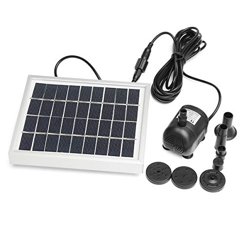 SHIJING Solar Wasserpumpe Power Panel Kit Pool Tauch Brunnen Garten Pflanzen Bewässerung Power Brunnen Teich Garten Outdoor Decor,2w