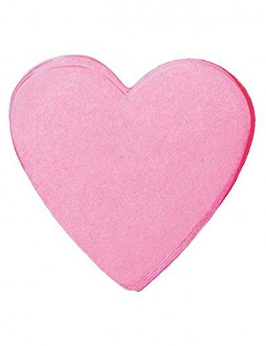 Confettis coeurs en papier-Rose-