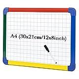 S SWANCROWN Pizarra magnética de doble cara con bolígrafo pequeño para niños (A4) A4 (30 x 21 cm)