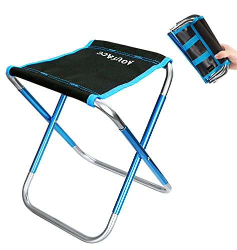 Camping Stool, Aoutacc 10.6 Inch Portable Folding Stool for Outdoor Travel Walking Hiking Fishing Garden Golf Beach, Foldable Camping Seat with Carry...
